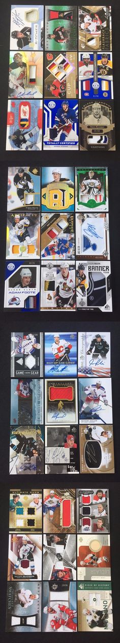 Ice Hockey Cards 216: Huge Nhl Hockey Auto Patch Game Used Jersey Relic Rookie Rc Insert 24 Card Lot! -> BUY IT NOW ONLY: $49.99 on eBay!