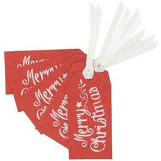 red Merry Christmas gift tags - pack of 5 at Paperchase