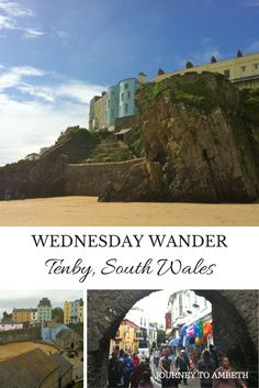 My trip to Tenby, in South Wales Europe Destinations, Travel Europe, Great Places To Travel, Uk Holidays, Picture Postcards, Ireland Travel, South Wales, Travel Guides, Family Travel
