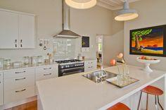 Modern kitchen in a restored villa, Auckland, New Zealand