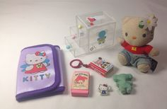 Vtg 70s SANRIO Hello Kitty MY MELODY 3 Drawer Patty and Jimmy PHONEBOOK KEYCHAIN