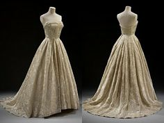 Vintage Evening Gowns | Givenchy evening gown, silk, 1955, London's V&A, via }