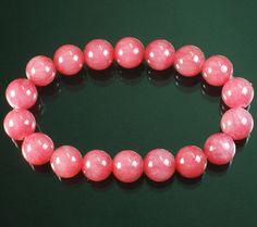 "Chinese Tibetan Strawberry .4"" Gemstone Beads Buddhist Prayer Mala Bracelet"