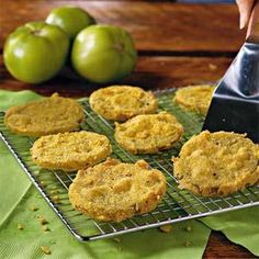 No one does Fried Green Tomatoes like Southern Living. The cornmeal and flour crust is what sets this recipe apart from others.