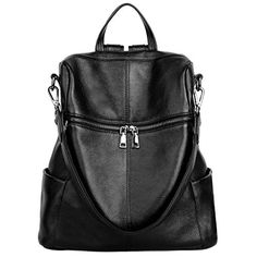 New Trending Backpacks: YALUXE Womens Double Use Real Leather Backpack Convertible Multi Pocket Shoulder Bag Black. YALUXE Women's Double Use Real Leather Backpack Convertible Multi Pocket Shoulder Bag Black   Special Offer: $69.99      322 Reviews Material:Cowhide Leather It is from the under belly of the cow and often coated to be more colors or patterns. It is naturally anti-scratch and durable...