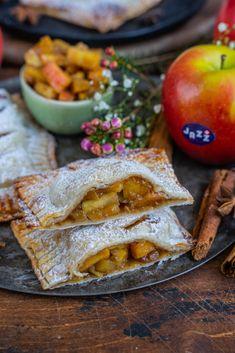 Gesündere Apfeltaschen mit JAZZ Äpfeln - Mrs Flury - gesunde Rezepte Tart, Bread, Vegan, Sweet, Desserts, 4 Life, Food, Just Bake, Healthy Cake