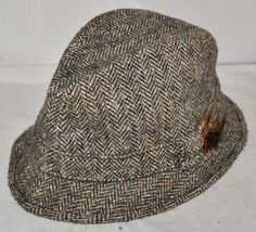 Harris Tweed - Pure Wool Hand Woven 60cm Deerstalker Style Hat, Made In The U.K.
