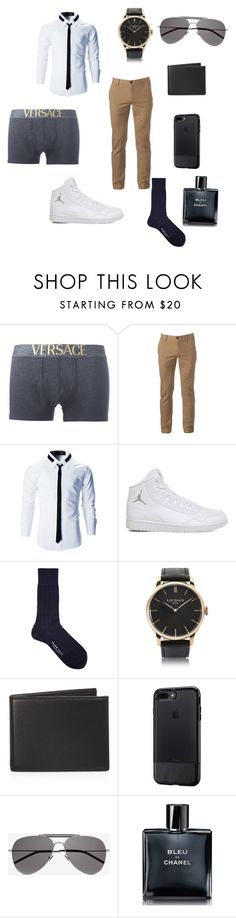 """""""My Drug"""" by vampirelover06 on Polyvore featuring Versace, Urban Pipeline, NIKE, Falke, Locman, The Men's Store, OtterBox, Yves Saint Laurent, Chanel and men's fashion"""
