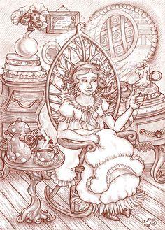 'Sophie' - Rosie Lauren Smith Illustration for Miss Landon and Aubranael