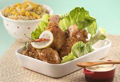 Receita ideal para miúdos e graúdos :) Coxas de frango fritas