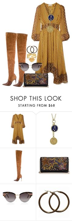 """Trendy Sundaze"" by lisa-styles-you ❤ liked on Polyvore featuring Ulla Johnson, Foundrae, Balmain, Christian Louboutin, Gucci and Alighieri"