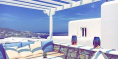 Myconian Kyma Design Hotel, Mykonos, Greece © Christoph Bugram / Restplatzbörse Design Hotel, Hotels, Mykonos Greece, Patio, Outdoor Decor, Home Decor, Luxury, Destinations, Vacation