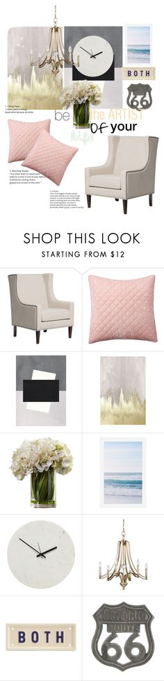 """""""Untitled #138"""" by alejomarianne on Polyvore featuring interior, interiors, interior design, home, home decor, interior decorating, Pottery Barn, Oliver Gal Artist Co., Holly's House and Feiss"""