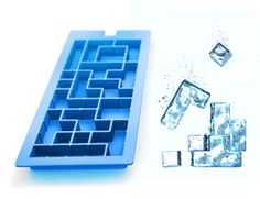 Tetris Ice cubes... or even better... Tetris Jello!! .... or EVEN BETTER... Tetris Jello Shots Game!!! must eat a line to delete a row!!