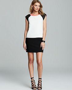 Trina Turk Dress - Brawley Cap Sleeve Color Block | Bloomingdale's