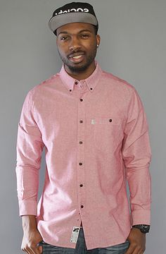 Crooks and Castles - The Regent Oxford Chambray Buttondown Shirt Red