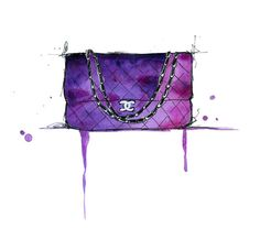 My dream purse, I painted it one afternoon when I was coveting a #Chanel #purse. $25 prints in my Etsy shop