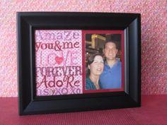 Altered Valentine Frame by Jody Benjamin