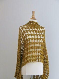 """Crochet Dreamz: Aida Lacy Shawl, Free Crochet Pattern. 594m dk yarn, 5mm hook. Measures 24"""" x 62""""."""