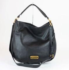 6e56d796a261 MARC JACOBS Black Leather New Q Hiller Hobo Bag  MARCJACOBS  Hobo Marc  Jacobs Handbag