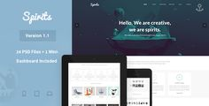 Spirits - PSD Template by Pirate_Dominic Blogger Templates, Psd Templates, Wordpress Template, Wordpress Theme, Mint Shop, Movie Website, Ecommerce Shop, Grid Layouts, Personal Portfolio