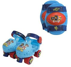 PlayWheels PAW Patrol Kids Roller Skates with Knee Pads  Junior Size 612 * For more information, visit image link.Note:It is affiliate link to Amazon.