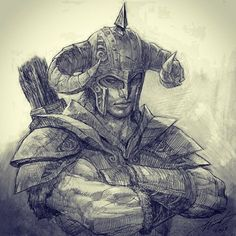 The Elder Scrolls The Elder Scrolls, Elder Scrolls Games, Elder Scrolls Skyrim, Elder Scrolls Online, Character Concept, Character Art, Concept Art, Character Design, Skyrim Drawing