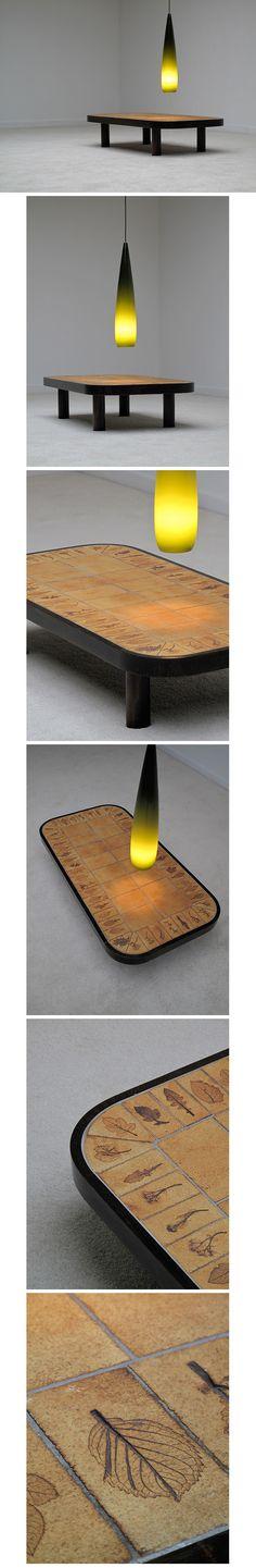 Ceramic, Coffee, Table, Roger Capron, Vallauris, 1960