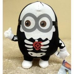 hard to find unique despicable me plush halloween themed scary skeleton minion for tristan