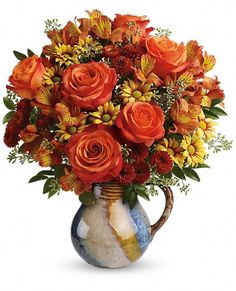 Teleflora's Blaze Of Beauty Bouquet Vase Arrangement Fall Flowers, Beautiful Flowers, Wedding Flowers, Bouquet Wedding, Purple Wedding, Silk Flower Arrangements, Flower Centerpieces, Tall Centerpiece, Wedding Centerpieces