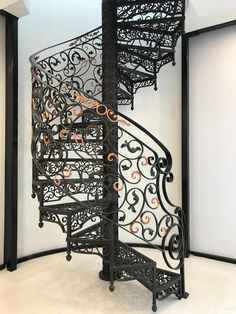 Wrought Iron Stairs, Wood Carving Designs, Home Libraries, Stairway To Heaven, Spiral Staircase, Art Furniture, Better Homes And Gardens, Stairways, House Design