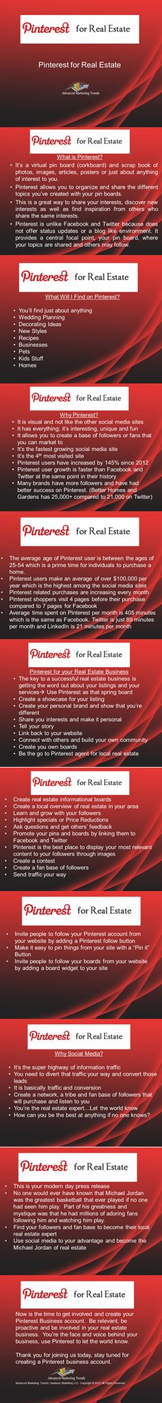 Pinterest for Real Estate Agents  #TheRealEstateLabs