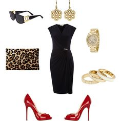 """Meow, she's a lady!"" by Kara Allan on Polyvore. We can put together an outfit for an evening, for a vacation or even a new wardrobe. We'll have you looking stylish in no time! KaraAllan.com"