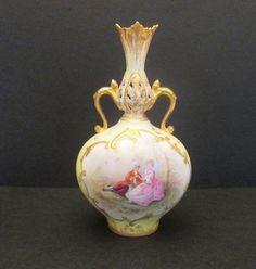 Martial Redon Antique Portrait Sevres Vase, 1882-1890