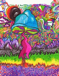 Shroom Art | The Shroom Trippy Art Print - Stavale