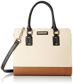 Nine West You and Me Satchel Toasted OatTobaccoBlack *** More info could be found at the image url.