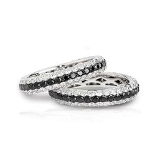 love black and white diamonds. I ALMOST got this for my wedding band!
