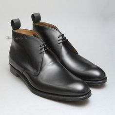 Shadwell Mens Black Leather Cheaney Chukka Boots