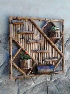 Diy Bamboo Wall Decor Ideas Will Make Your Home More Eco Friendly Bamboo Art, Bamboo Crafts, Bamboo House, Bamboo Garden, Bamboo Furniture, Cheap Furniture, Decorating Your Home, Diy Home Decor, Bamboo Architecture