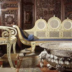 Furnishings at Kedleston Hall collected by Lord Curzon (1859-1925) during his tenure as Viceroy of India.