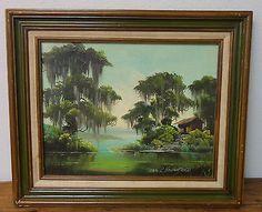 Charles R Handford Louisiana Bayou Scene Painting Regionalist Southern Landscape
