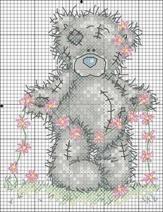 Scheme of cross-stitch - Teddy Bear