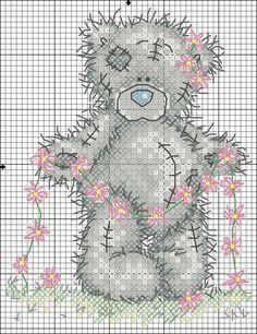 Esquema de ponto-cruz - urso de peluche