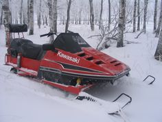 KAWASAKI INVADER snowmobile independent front and rear suspension