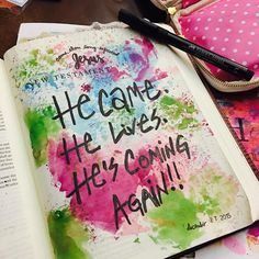 New Testament page inspired by @arden_elise As she said this sums up the New Testament pretty good!! #hescomingagain #biblejournaling #biblejournalingcommunity #illustratedfaith #documentedfaith #journalingbible