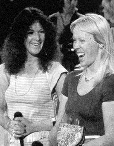 Anni-Frid Lyngstad and Agnetha Fältskog