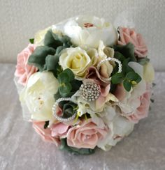 Wedding bridal bouquet .country styled vintage by FleurDeBeese
