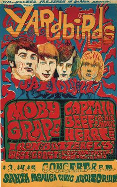 22.7.1967; the yardbirds - captain beefheart - iron butterfly; usa, santa monica; civic auditorium (db)