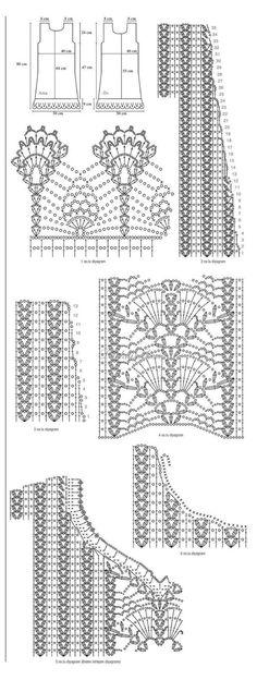 Вязаные платья крючком (подборка, модели с описанием)   Дашкин Дом