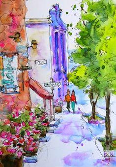 Nora MacPhail - Artist: Saturday stroll